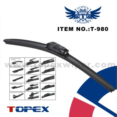 T-990 5 in 1 multi-fit flat wiper blade