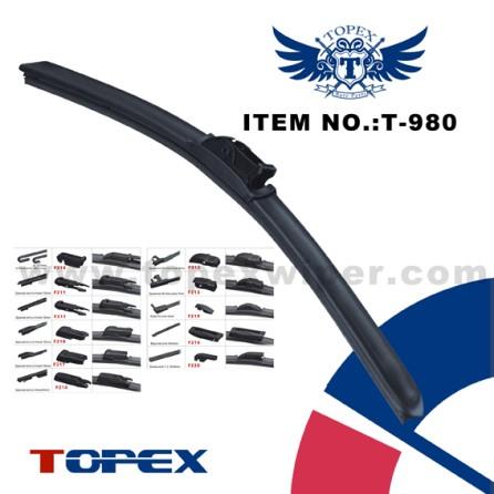 T-980 one-piece multi-fit flat wiper blade