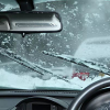 Self-sweeping the door in front of snow, travel by snow wiper @ driver