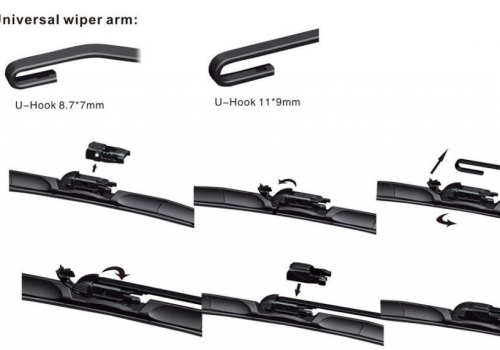 T-U190 Wiper Arm Installation Diagram