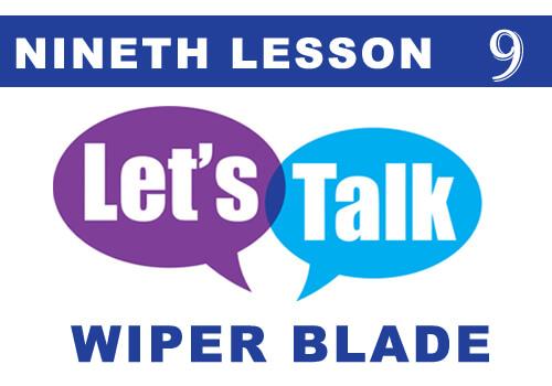 TALK wiper blade 9